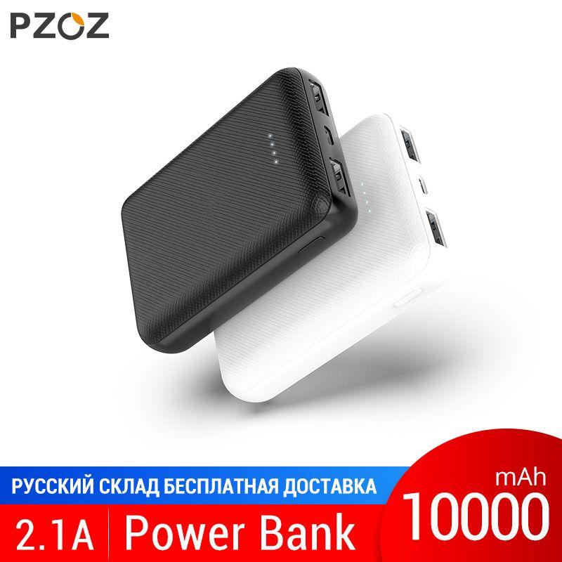 PZOZ batterie externe 10000 mAh Double téléphone mobile usb batterie externe charge rapide Pour iphone xiaomi mi chargeur portable mi ni PowerBank