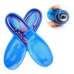 Mwsc gel de silicona Plantillas hombre mujeres Plantillas ortopédicas masaje Pañales de paño absorción de choque shoepad