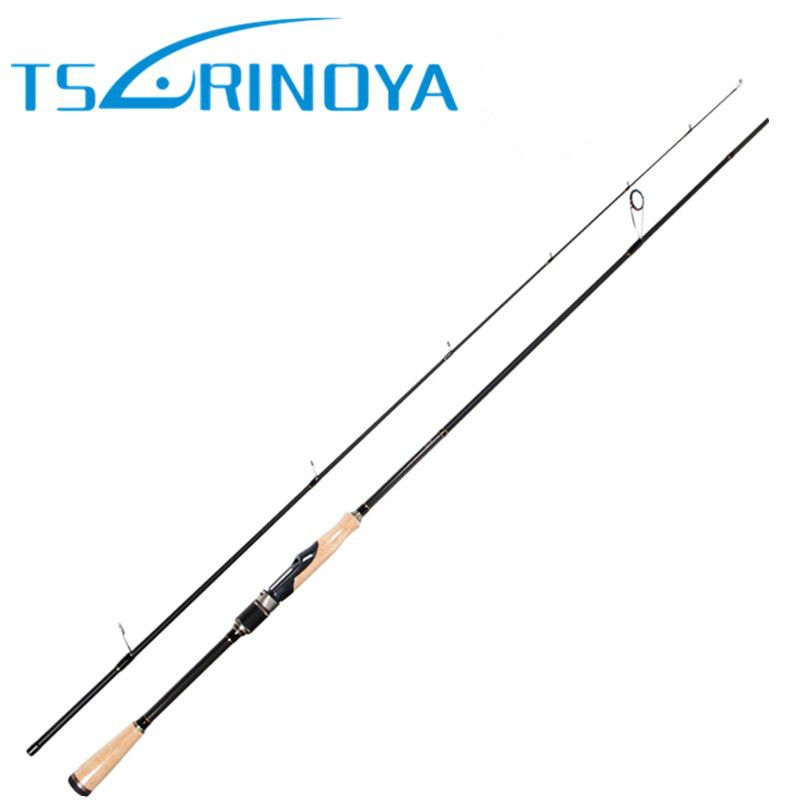 TSURINOYA PROFLEX II 2.01m 2.13m Spinning Fishing Rod 2 Section ML/M Power Carbon Fiber Lure Rod Canne Da Pesca Fishing Pole