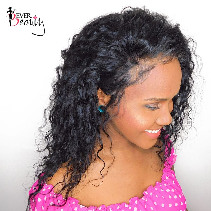 Loose Curly Lace Front Human Hair Wigs For Women Natural Black Brazilian Glueless Curly Lace Front Human Wig Remy Ever Beauty