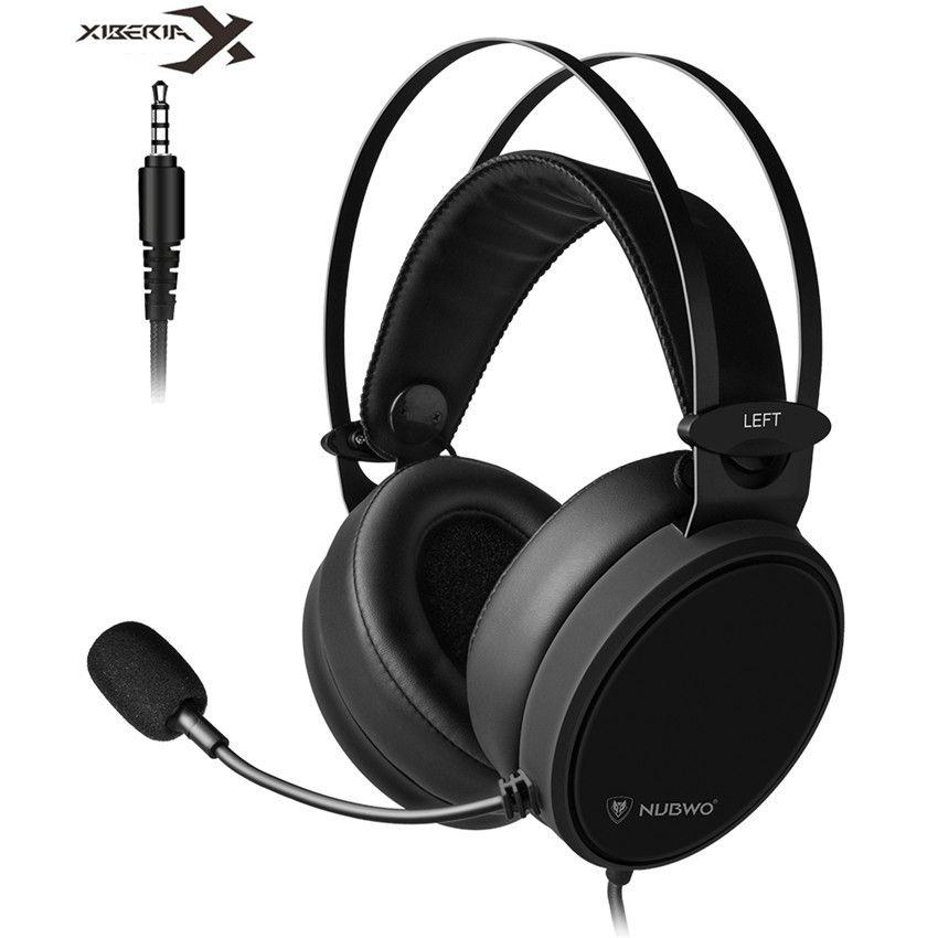 Xiberia Nubwo N7 PS4/Neue Xbox Ein Headset PC Casque Bass Stereo Gaming Kopfhörer für Handy Computer TV tablet Mit Mic