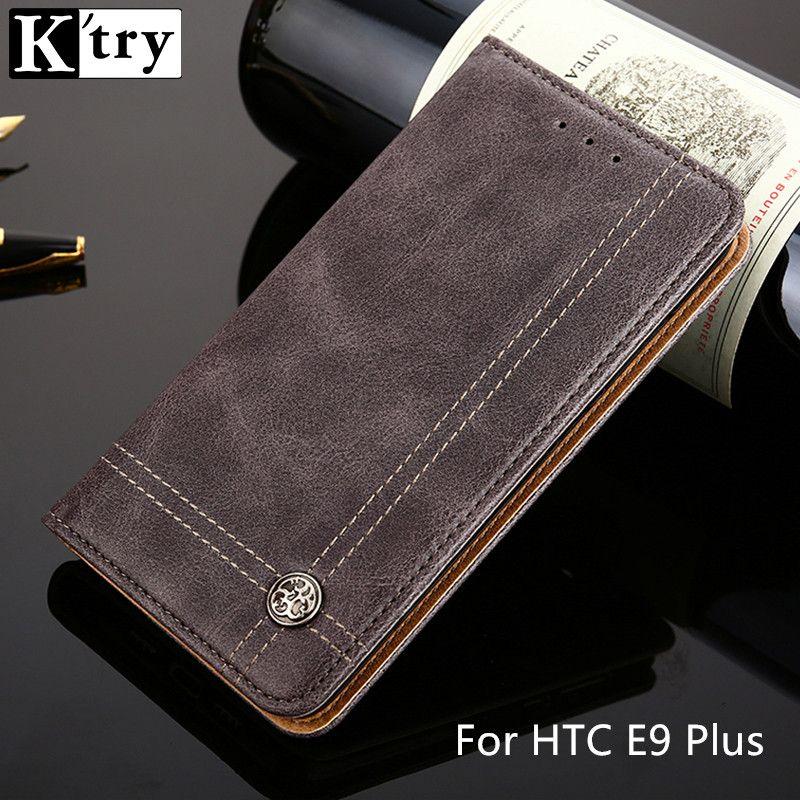 K'TRY Mappenkasten Für HTC E9 Plus Pu-lederne Mappe Beutel stil Flip Abdeckung Card Slot Ständer Luxus Fall Mit Kartentasche