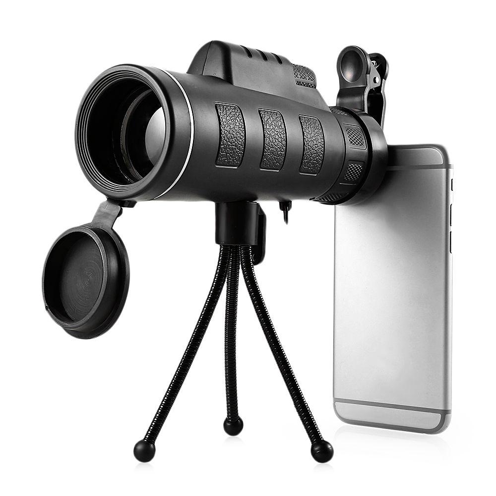 Outlife 40x60 Монокуляр телескоп HD Ночное видение Prism область Портативный с телефона клип для наблюдения за птицами Охота