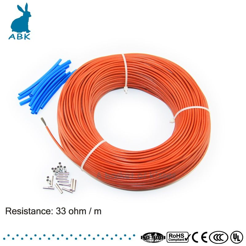 12K 100meters carbon fiber low cost heating wire Heating cable Anti freezing thermal insulation floor heating system