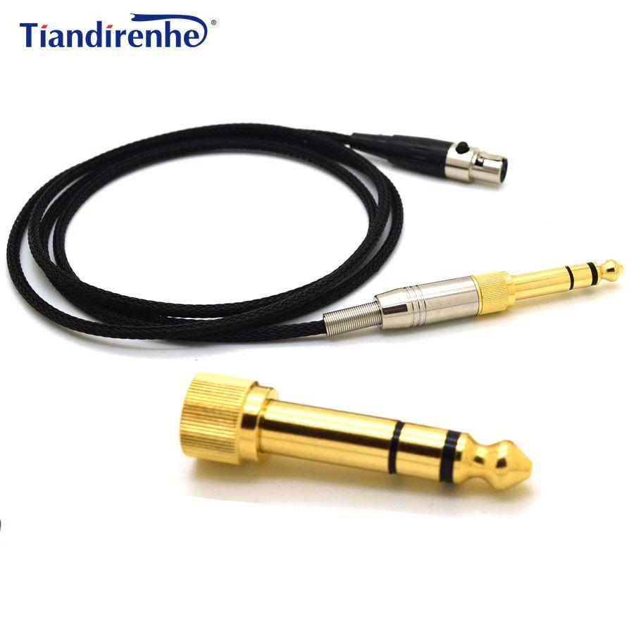 Обновлен кабель для наушников AKG K702 Q701 K271 K240 K267 k712 гарнитура Замена аудио Провода 6.35/3.5 мм мужской К Mini XLR