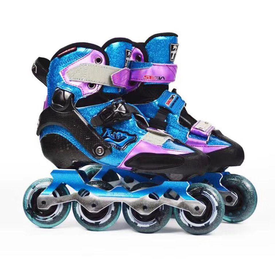 100% Original 2018 SEBA KSJ-J Junior Star Sky Kind Inline Skates Kohlenstoff Faser kinder Roller Skating Schuhe Slalom Schiebe patines