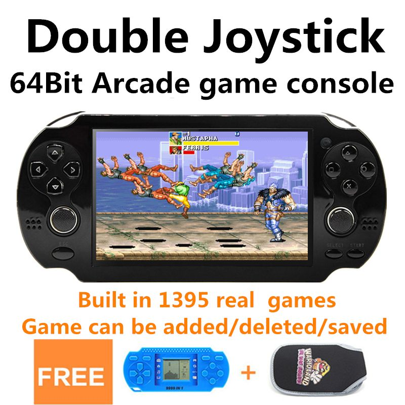 New 4.3 inch 8GB 64bit Handheld Game Console build in 1395 games for CPS/NEOGEO/GBA/GBC/GB/SNES/NES/SEGA Video Game Console MP5