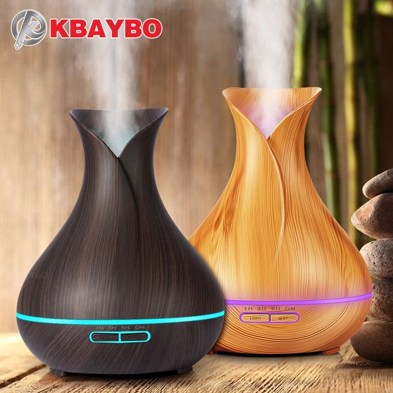 400ml Essential Oil Diffuser Wood Grain Ultrasonic Aroma <font><b>Cool</b></font> Mist Humidifier for Office Bedroom Baby Room Study Yoga Spa