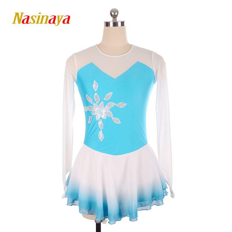 Nasinaya Figure Skating Dress Customized Competition Ice Skating Skirt for Girl Women Kids Patinaje Gymnastics Performance 81