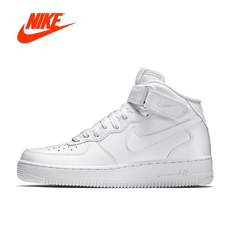 Оригинальный Новое поступление Официальный Nike Air Force 1 AF1 дышащая Для Мужчин's Обувь для скейтбординга спортивные Спортивная обувь
