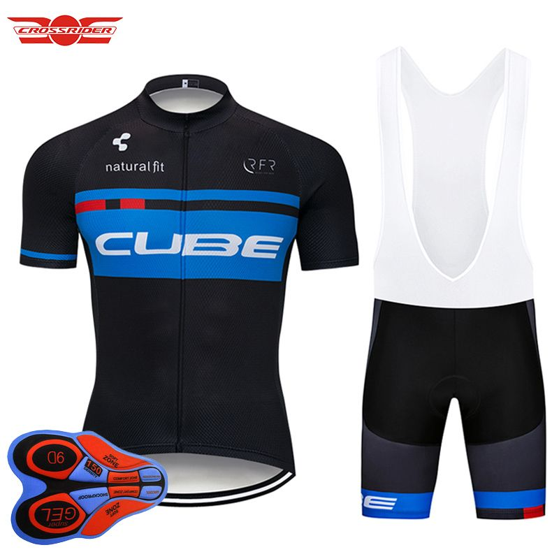 Crossrider 2018 Pro Team Cycling Jersey Short 9D set MTB Bike Clothing Ropa Ciclismo Bike Wear Clothes Mens Maillot Culotte