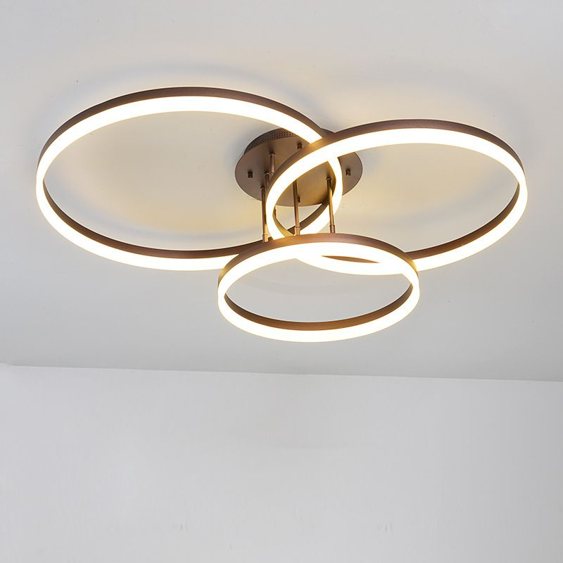 Modern Simple Bedroom Living Room LED Ceiling Light Round Circle Ceiling Mounted Lamp Home Decor Lighting Fixture