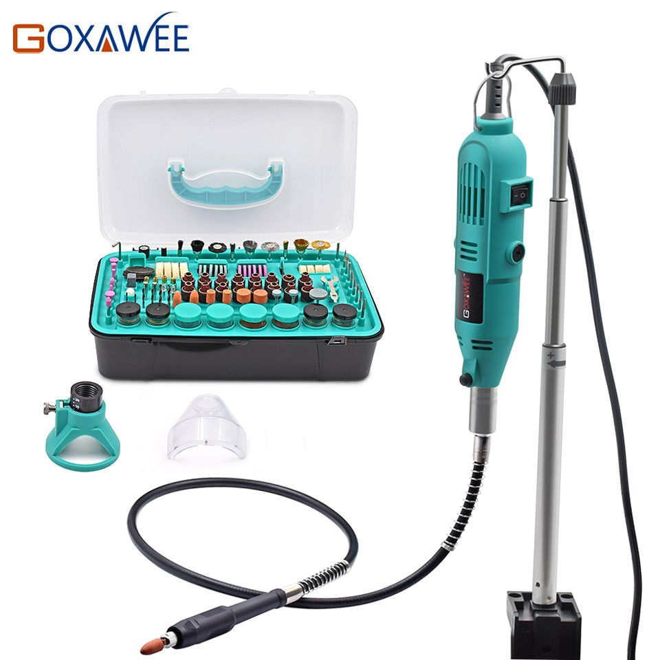 GOXAWEE Mini perceuse électrique outils électriques outils rotatifs accessoires avec arbre flexible cintre pour Dremel Stype perceuse Mini meuleuse outil