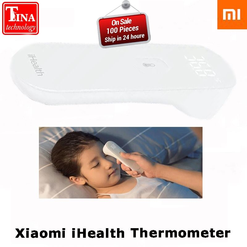 Xiaomi iHealth Thermometer Accurate Digital Fever Infrared Clinical Non Nontact Measurement with LED Screen Clear Reading