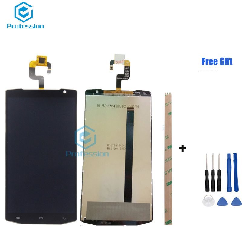 5.5inch For 100% Original Oukitel K10000 LCD Display and Touch Screen Screen Digitizer Assembly Replacement +Tools+Adhesive