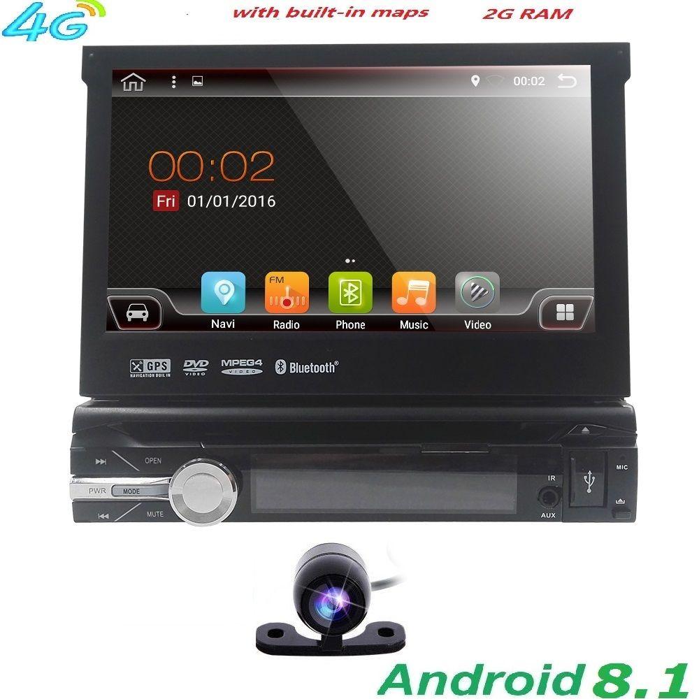 Quad Core Reine Android 8.1 Auto Multimedia-Player Auto PC Tablette Single 1din 7 ''GPS Navigation Auto Stereo Radio Bluetooth