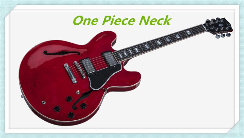 Custom Shop Limited Run Curly ES-335 Electric Guitar Transparent Red Finished Jazz Guitars China One Piece Neck