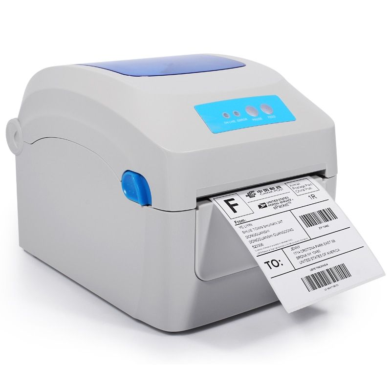 Hight quality Thermal label shipping address printer Thermal lable barcode printer print width 104mm for Express and logistics