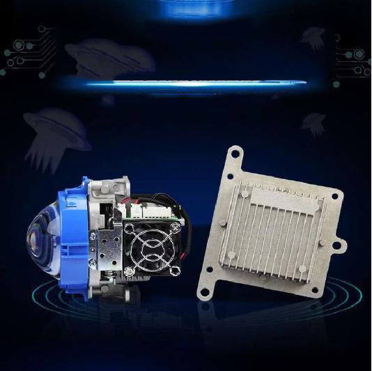 2017 SANVI Bi-LED Projector <font><b>Lens</b></font> Headlight 35W 5500K Hi Lo Beam Auto lighting Car-styling LED Headlight Autoparts