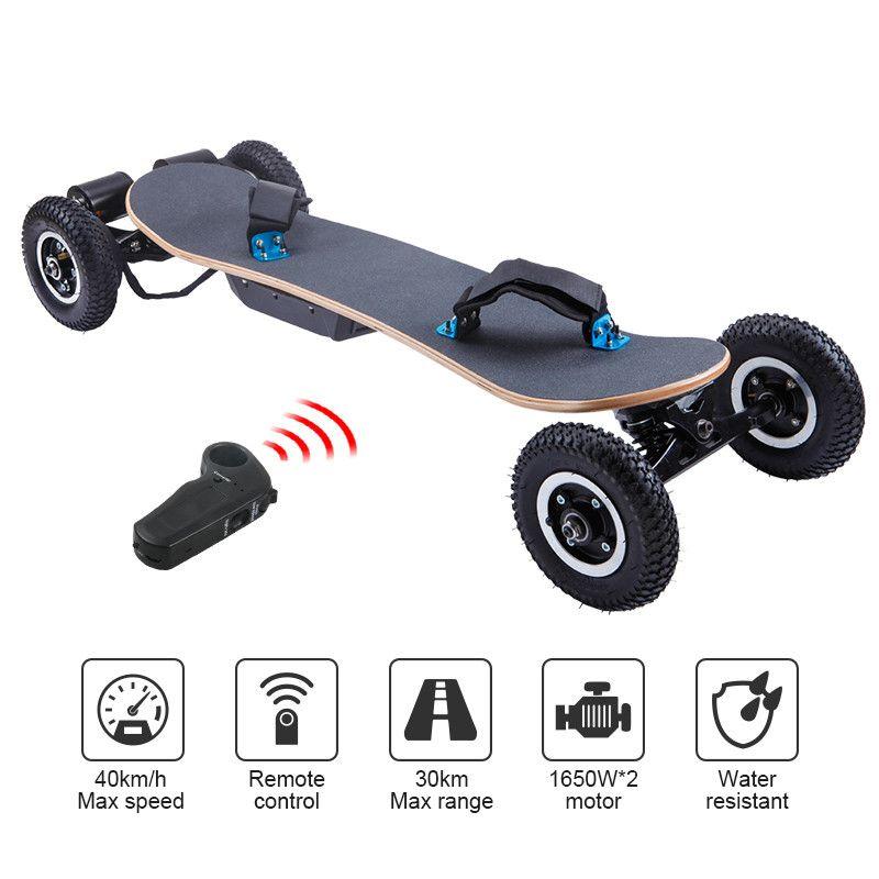 1650 Watt Dual Motor 45 KM/STD Hohe Leistung Erhöht Ein Stück Elektrische Skateboard Fern Sport Elektrisches Skateboard