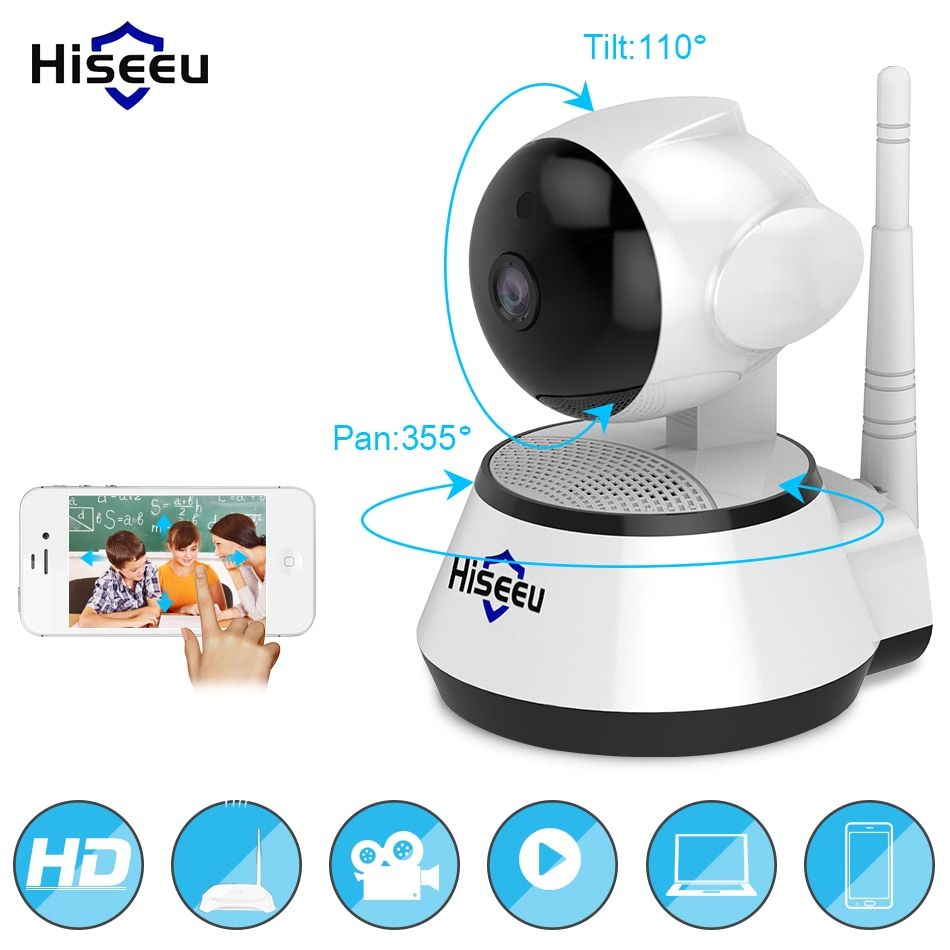 Home Security IP Camera Wireless Smart WiFi Camera WI-FI Audio Record Surveillance Baby Monitor HD Mini CCTV Camera <font><b>Hiseeu</b></font> 1080P