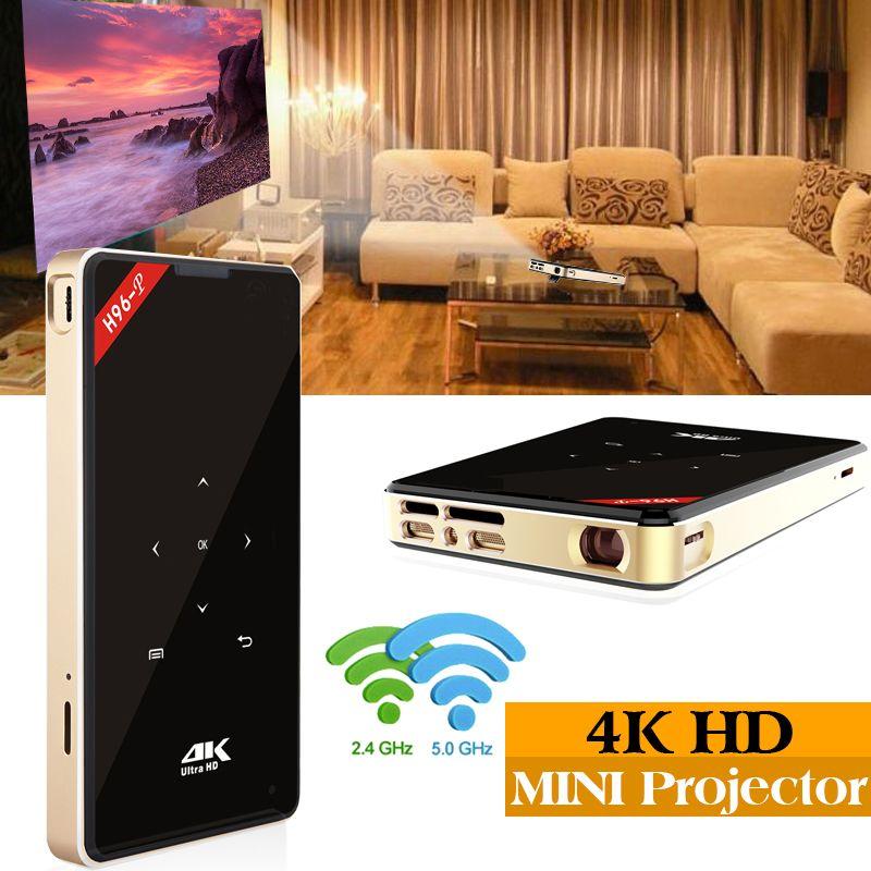 XinwaysH96-p proiettore android tasca pico proiettore H96 dlp mini proiettore amlogic S905 4 k 2.4g 5.8g Wifi BT4.0 Home