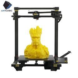 ANYCUBIC Chiron 3D Drucker Neueste TFT Bildschirm Ultrabase Titan Extruder Dual Z Axisolor Aktualisiert 3d Drucker Kit Filament Plus Größe