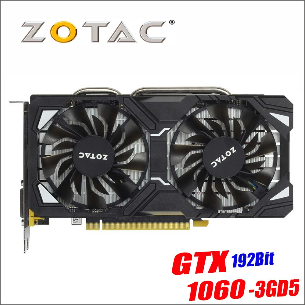 Original ZOTAC Grafikkarte GPU GTX 1060 3 GB 192Bit GDDR5 Grafiken Karten Karte für nVIDIA GeForce GTX1060 3GD5