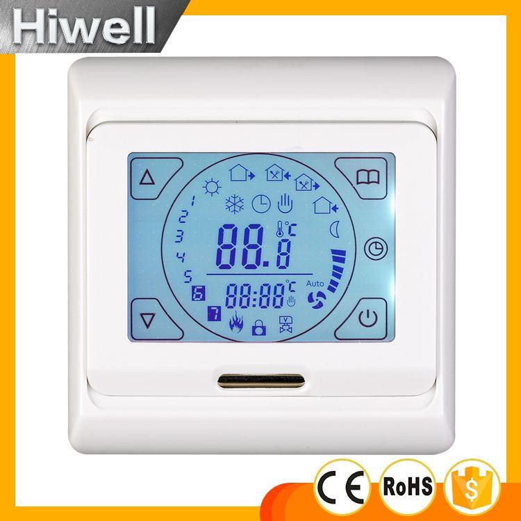 Thermostat de chauffage par le sol à écran tactile Thermostats de température de Film de chauffage électrique Programmable hebdomadaire
