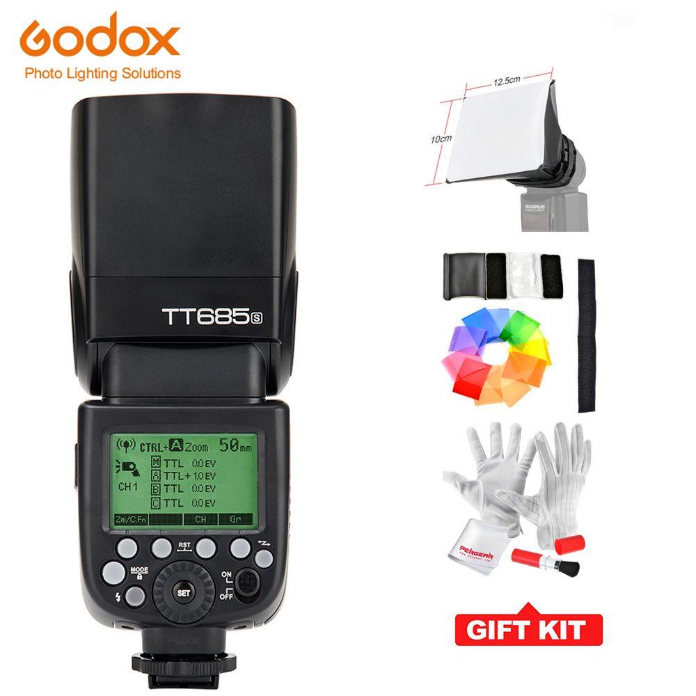 Godox TT685S GN60 TTL Flash Speedlite 230 zoom automatique/manuel pleine puissance pour les appareils photo reflex numériques Sony A77II A7RII A7R A58 A99