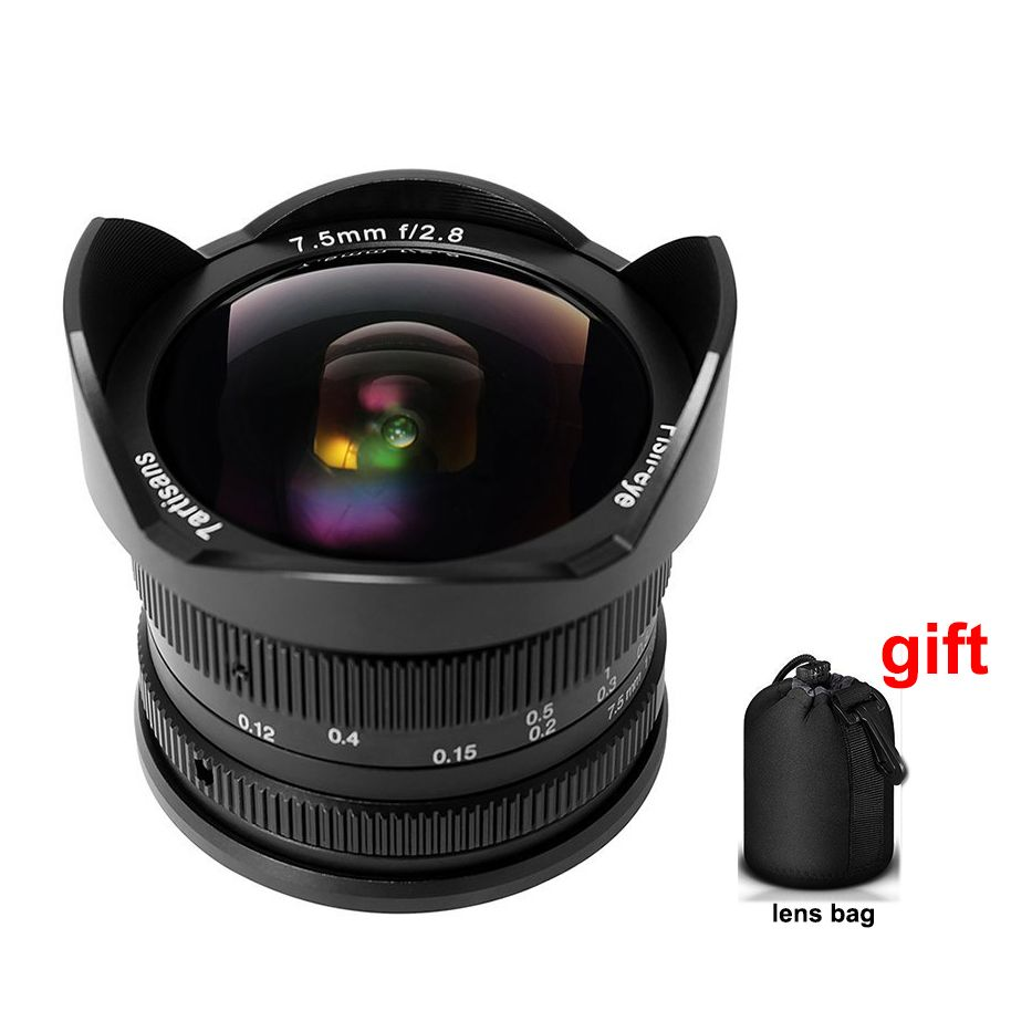 7 handwerker 7,5mm F/2,8 Weitwinkel Fisheye-objektiv 180 Grad Multi beschichtet Sony E Berg A9 A7 A7S A7RII A7SII A6300 NEX-7 Kamera