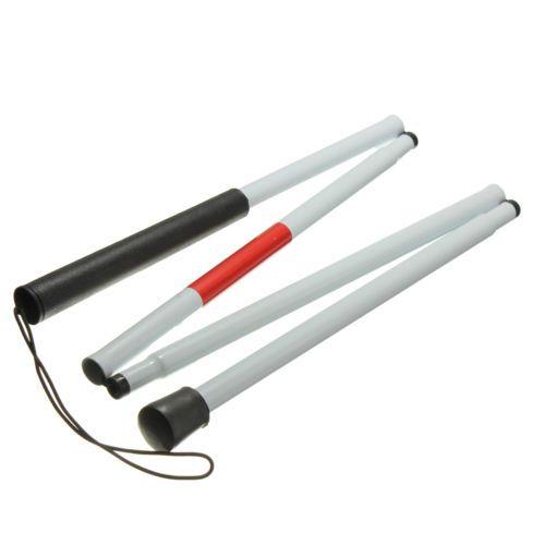 Heißer Sehbehinderte Krücke Cane Blind Spazierstock Walker Aluminium Einfache Klapp