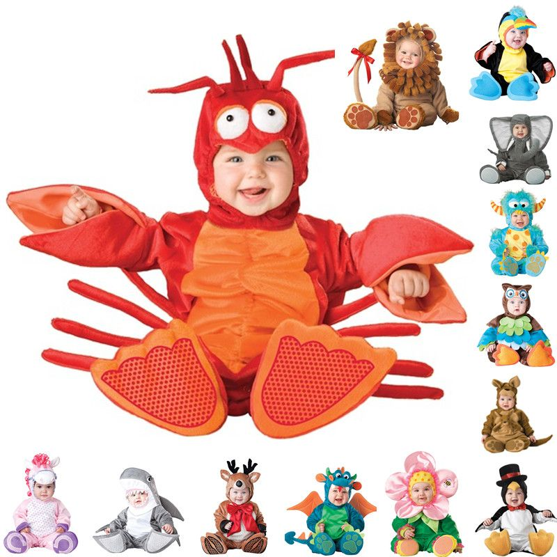 New Arrival High Quality Baby Boys Girls Halloween Dinosaur Costume Romper Kids Clothing Set Toddler Co-splay Triceratops