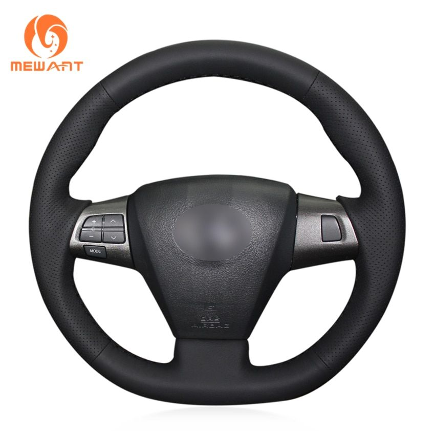 MEWANT Black Artificial Leather Car Steering Wheel Cover for Toyota Corolla 2011 2012 2013 <font><b>RAV4</b></font> 2011 2012