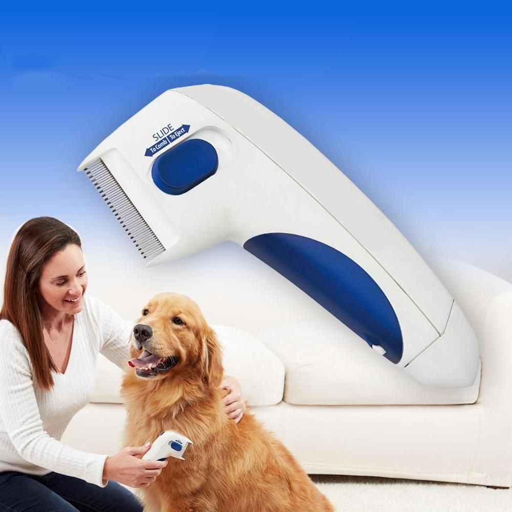 Cat Dog Electric Terminator Brush Anti Removal Kill Lice Cleaner Electric Head Pet Fleas Electronic Lice Comb for Dog