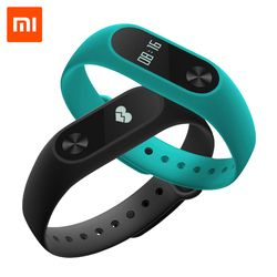 Xiaomi Mi Band 2 MiBand 2 Wristband Bracelet Smart Heart Rate Monitor Fitness Tracker with Touchpad OLED Screen for Android iOS