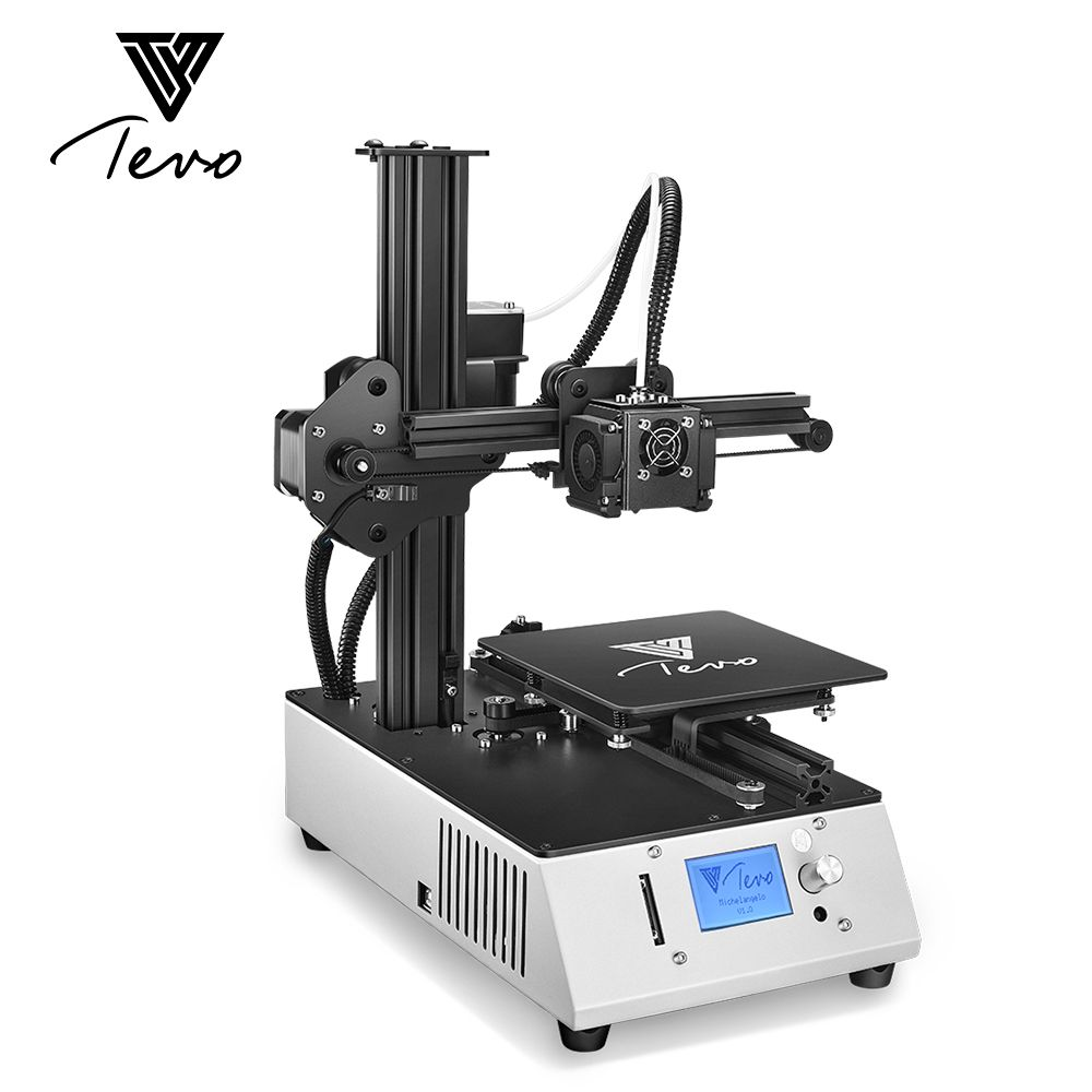2018New TEVO Michelangelo TEVO 3D Printer Fully Assembled Printing Machine Impresora Full Aluminum Frame Titan Extruder SD Card