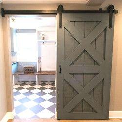 (Free shipping) Rustic Vintage plate sliding barn door hardware&Barn door track schuifdeur system  4ft/5ft/6ft/6.6ft/8ft