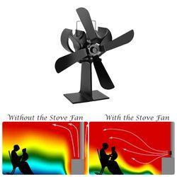 4 Lames De Chaleur Alimenté Cuisinière Ventilateur + 16% D'économie de Carburant Poêle ventilateur Pour Au Poêle À Bois-Eco Friendly Haute qualité Fournitures pour La Maison