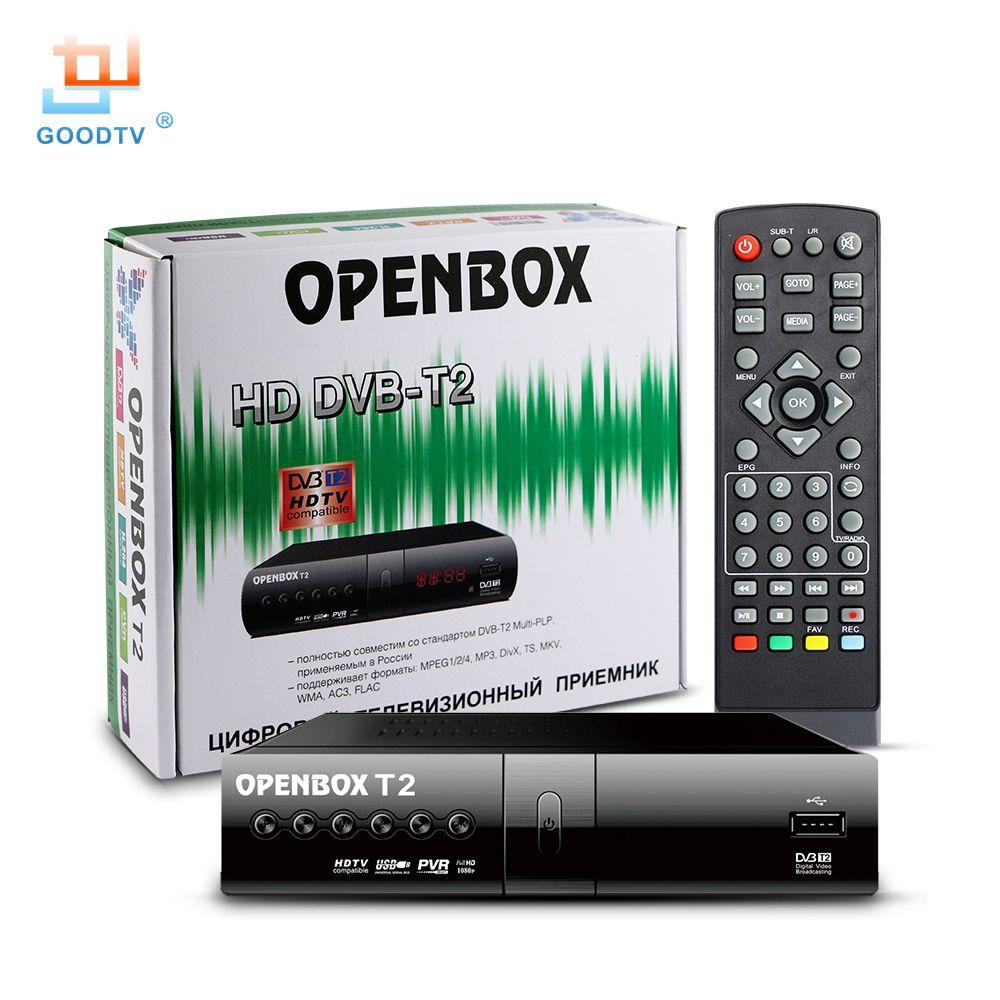 Numérique TV Récepteur OPENBOX DVB T2 HD Set-top Box Set MPEG-4 USB DVB-T2 Smart TV Box LED Affichage Set Top box GOODTV