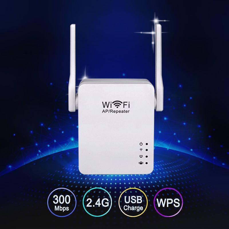 Répéteur WiFi sans fil 300 Mbps 2dBi WiFi Extender antenne amplificateur Wifi amplificateur de Signal WiFi amplificateur WiFi Mini point d'accès