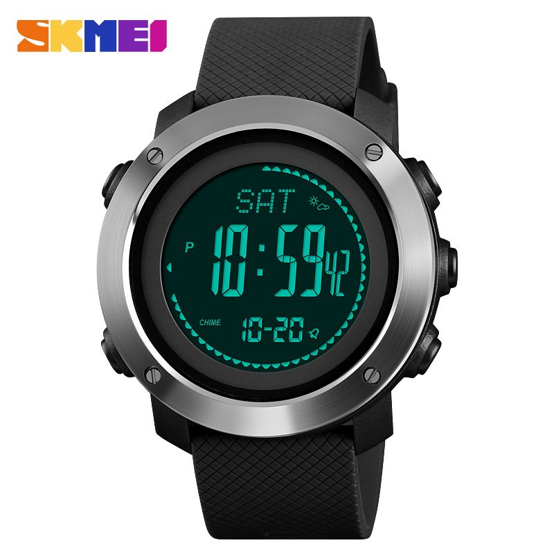 SKMEI Outdoor Sports Men Women Watches Climbing Height Pressure Compass Pedometer Stopwatch Electronic Watch Relogio Masculino
