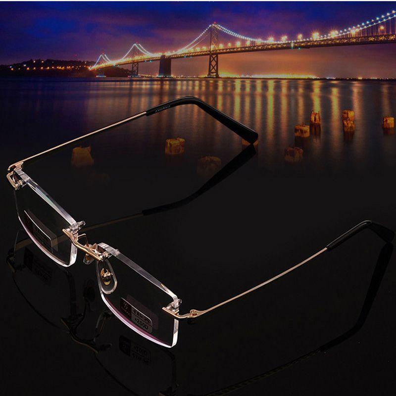 Grande vente de haute qualité sans monture lunettes de lecture femmes hommes de haute qualité diamant coupe ultraléger sans cadre lunettes de lecture 2.0 2.5