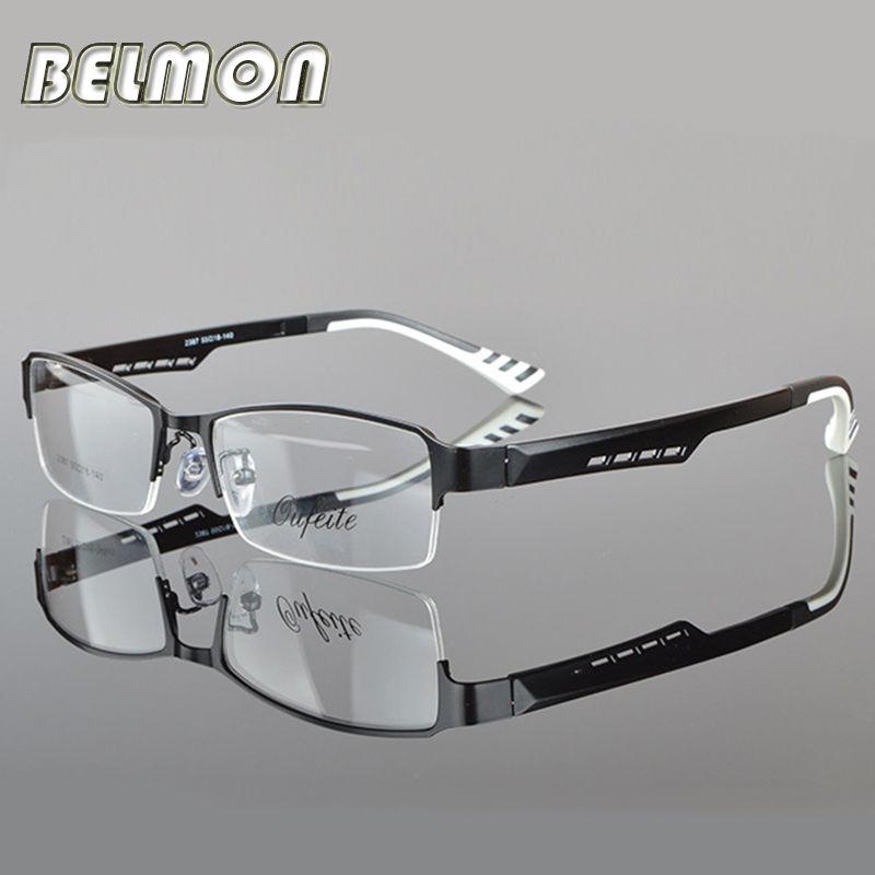 BELMON Spectacle Cadre Lunettes Silhouette Hommes Ordinateur Optique Lunettes Cadre Pour Hommes Transparent Armacao de RS050