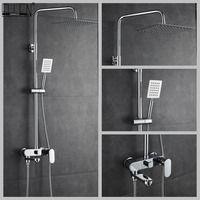 Baño ducha Set 8-10-12 pulgadas lluvia cabeza de ducha con ducha de mano