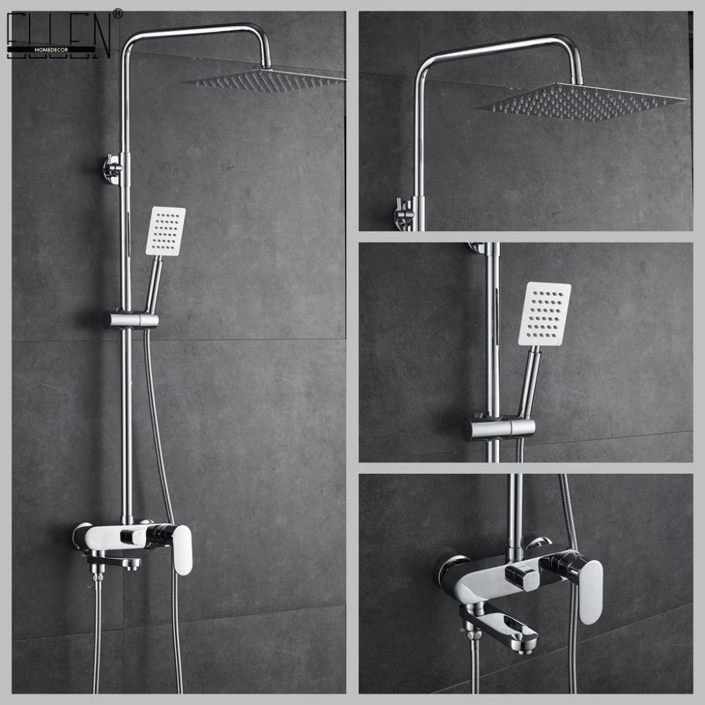 Salle de bains Douche Ensemble 8-10-12 pouce Pluie Tête De Douche De Bain Douche Mélangeur avec Douche À Main
