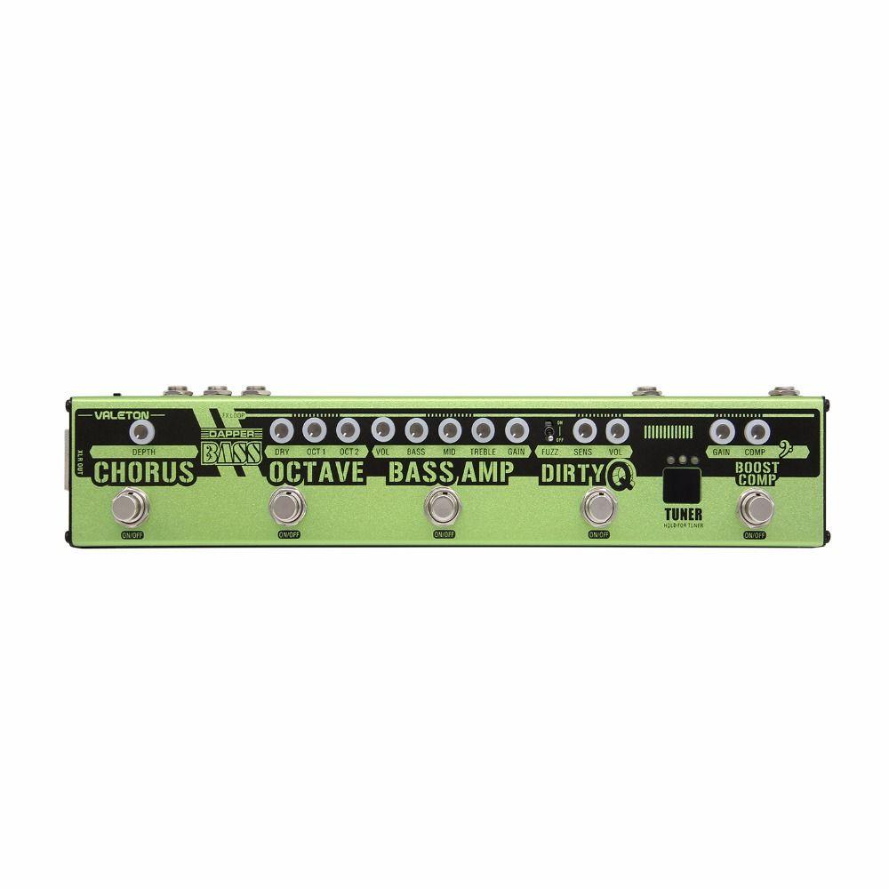 Valeton Dapper Bass Multi Effektpedal Alle In Einem Effekte Streifen Tuner Boost Kompressor Umschlag Filter Amp Oktave Chorus Schleife