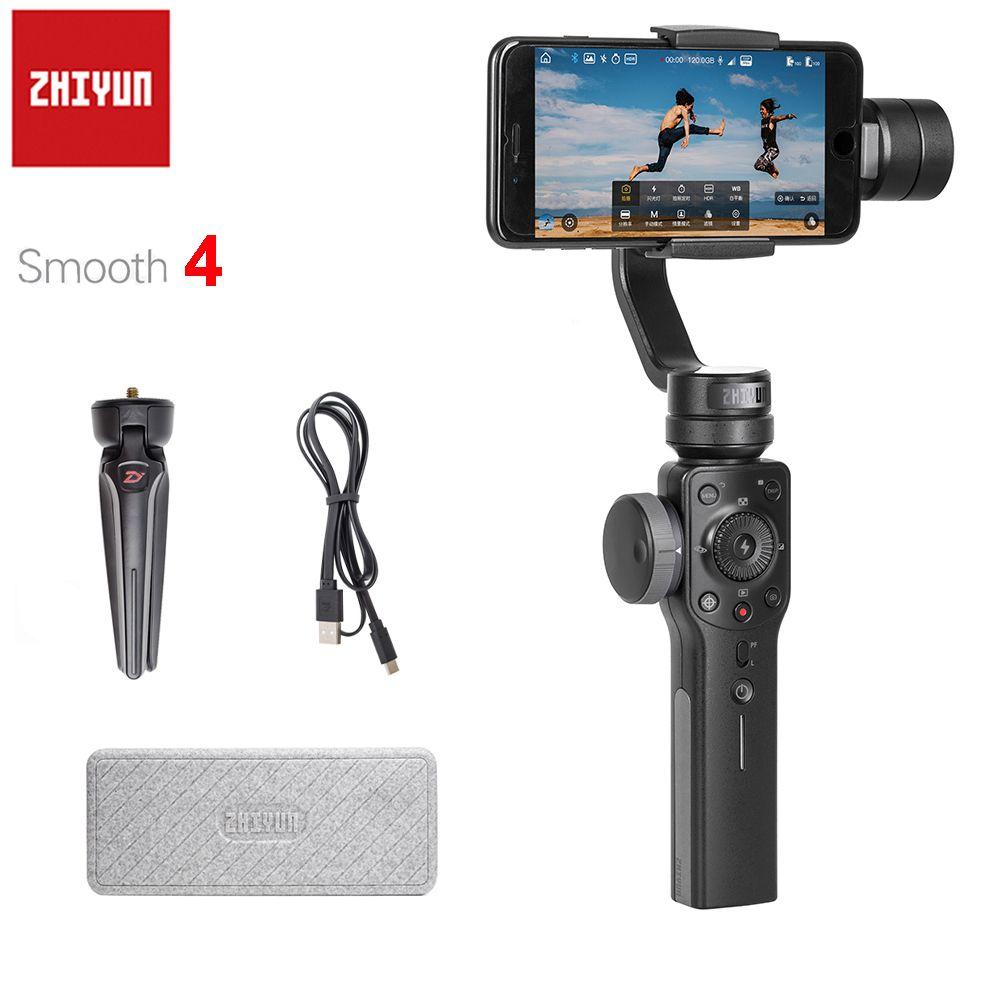Zhiyun Lisse 4 3-Axes De Poche Cardan Stabilisateur Smartphone pour iPhone X 8 Plus 8 7 Plus 7 6 S Samsung S9 + S9 S8 S7 PK Lisse Q