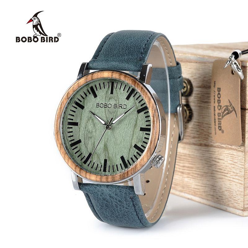 BOBO BIRD Timepieces Wooden Metal Watch for Men Special Design Quartz Wristwatches Accept Customize Best Gift WP01
