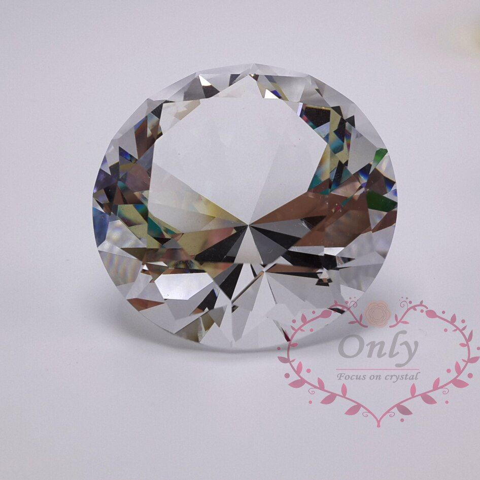 Livraison Gratuite 60mm Parfait Taille De Pierres Précieuses Cristal Verre Pierre Gemme de Diamant Décoration de La Maison Accessoires